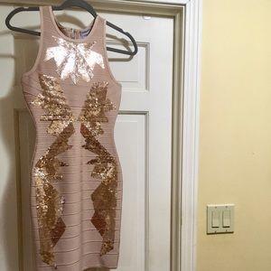 Brand new Herve Leger sequined bandage dress